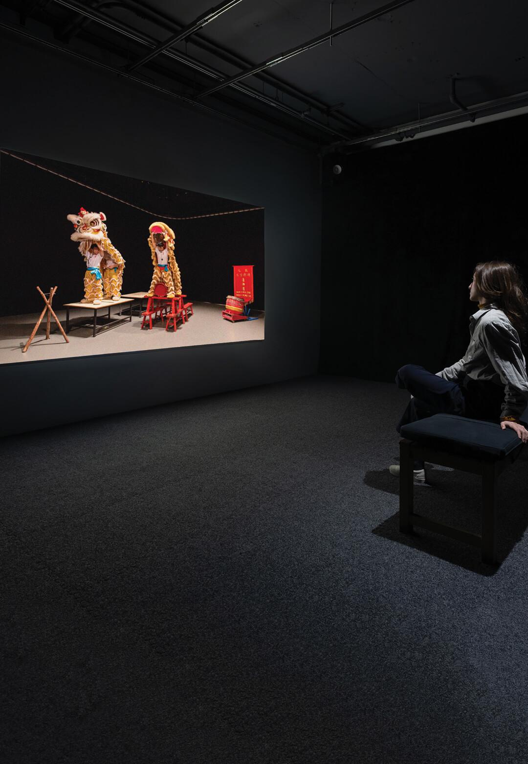 Samson Young, Muted Situation #2: Muted Lion Dance (2014) on view at Seeing Sound at KADIST San Francisco | Seeing Sound | KADIST | STIRworld