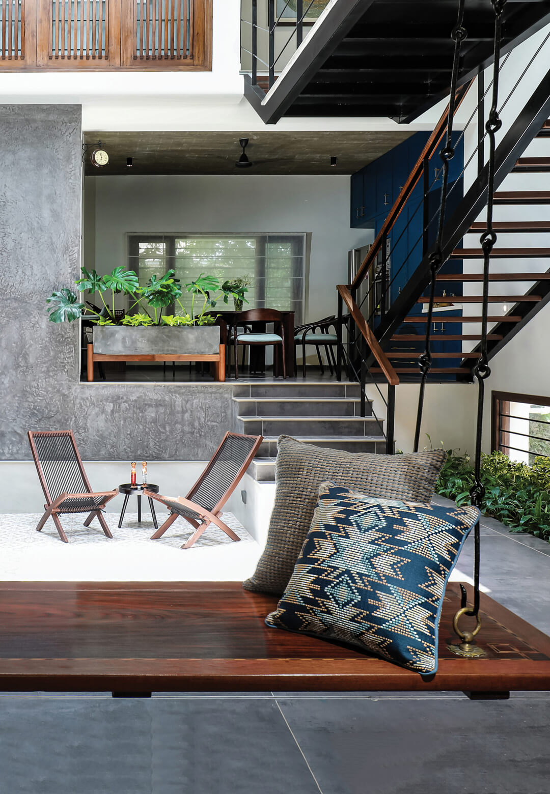 Studio Context Architects' Urban Courtyard House in Chennai, Tamil Nadu, showcasing a traditional design with contemporary touches | Urban Courtyard House | Studio Context Architects | STIRworld