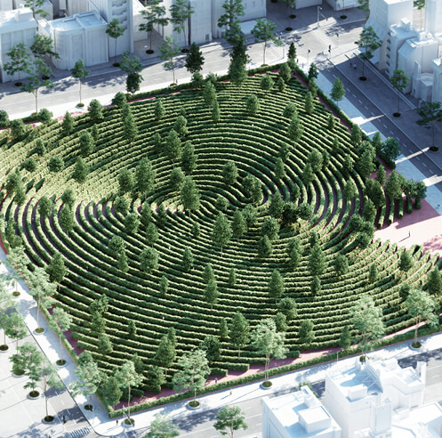 Studio Precht designs Parc de la Distance, a park for physical distancing