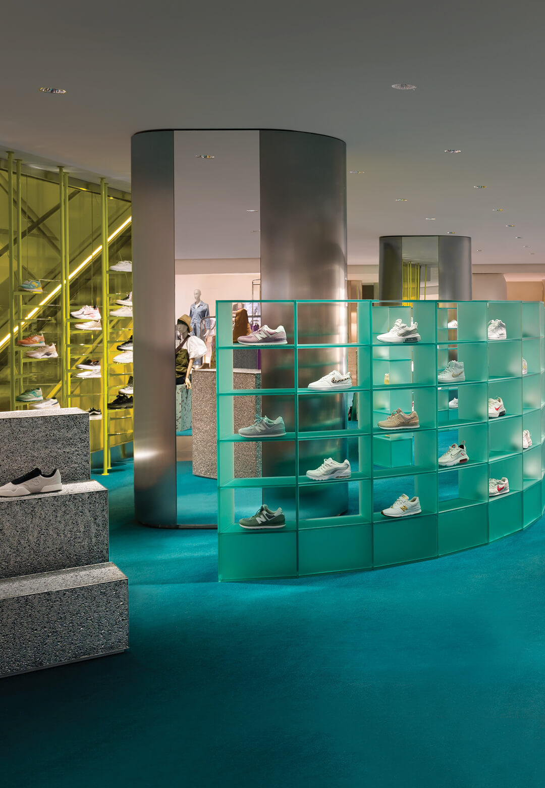 Studiopepe revamps the fourth floor of Rinascente in Milan, transforming the flagship retail space with pop tones and graphic elements   Rinascente by Studiopepe   STIRworld