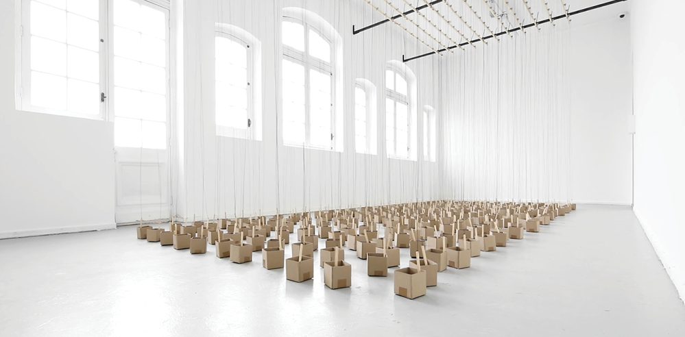 Swiss artist Zimoun shows us a new way to experience sound