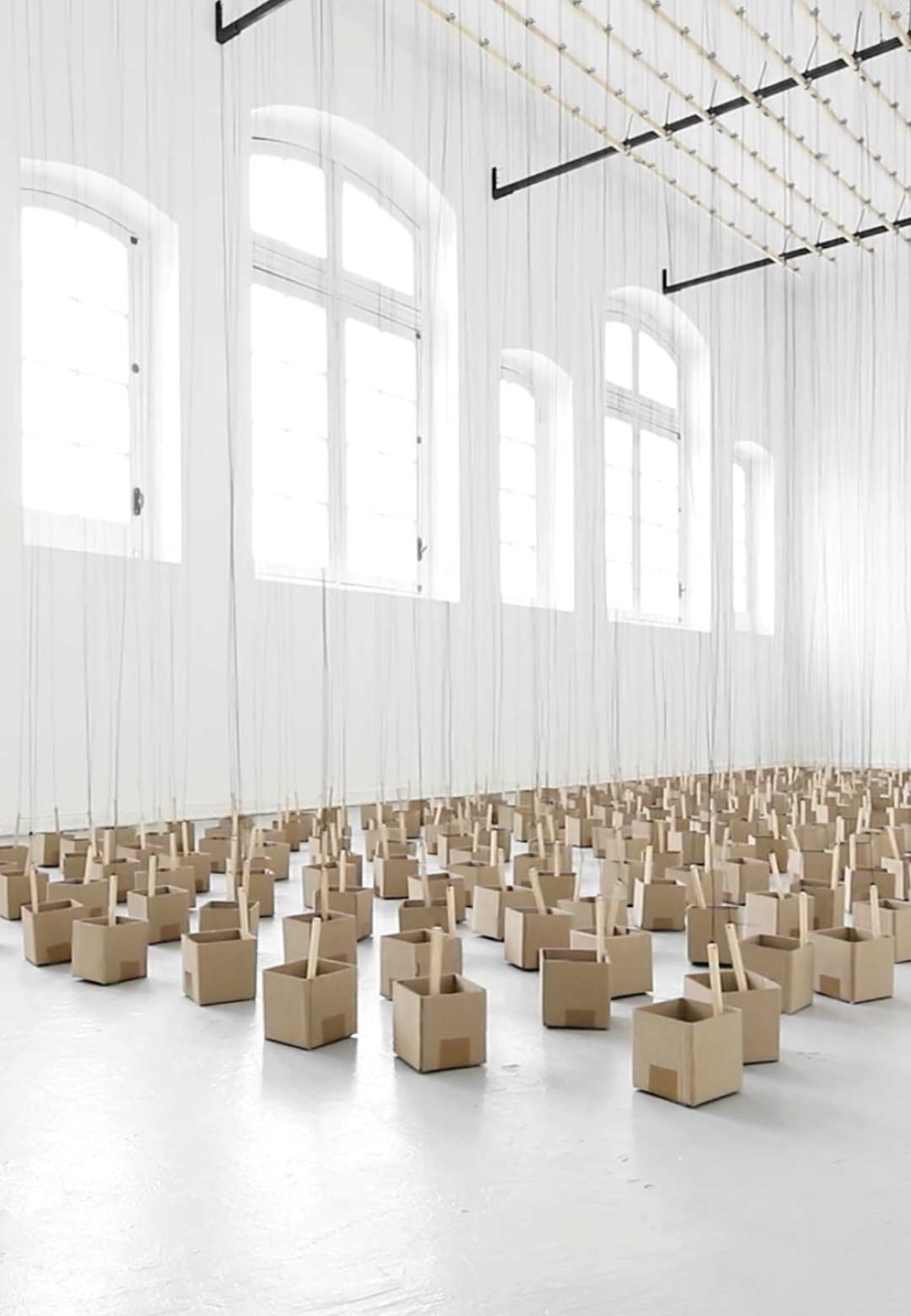 An installation by Zimoun, a Swiss artist   Studio Zimoun   STIRworld