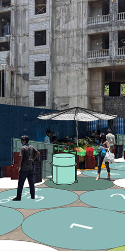 The Bandra Collective, Mumbai, proposes short term post-lockdown safety initiatives