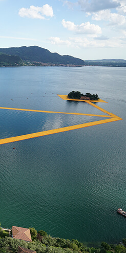 The Floating Piers in Italy, by Christo and Jeanne-Claude