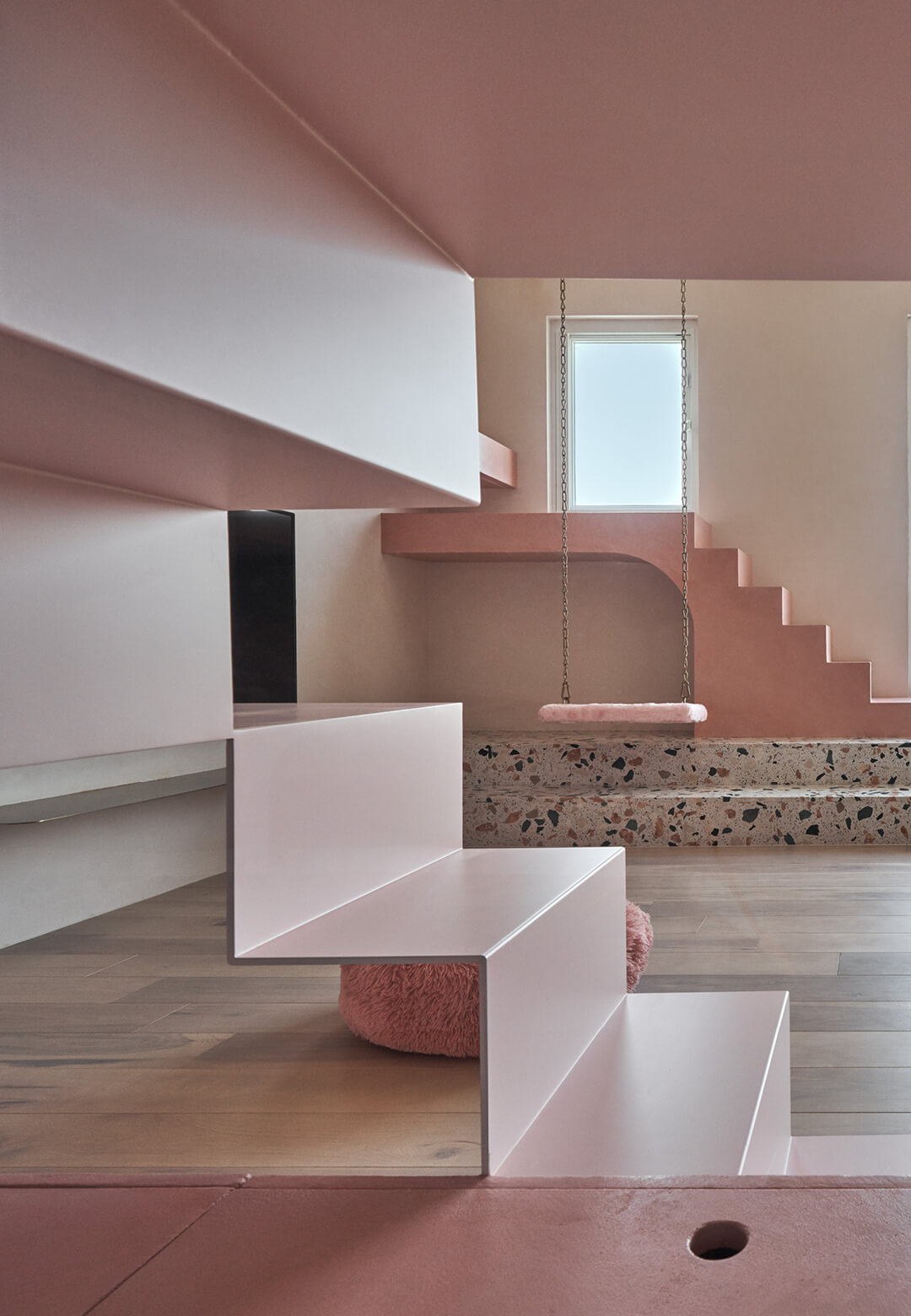The all pink holiday dwelling in Taiwan designed by KC Design Studio | Cat's Pink House by KC design studio | STIRworld