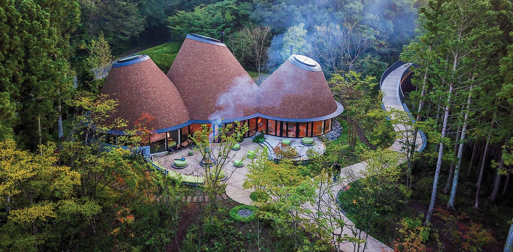 The magical and intriguing PokoPoko Clubhouse in the forests of Japan