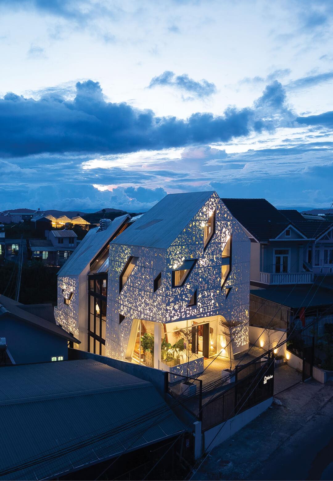 The Nap Am Homestay illuminates its surroundings like a screened lantern   Nap Am Homestay  Le House   STIRworld