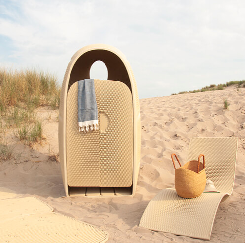 The New Raw's 3D-printed beach furniture gives marine plastic waste a new life