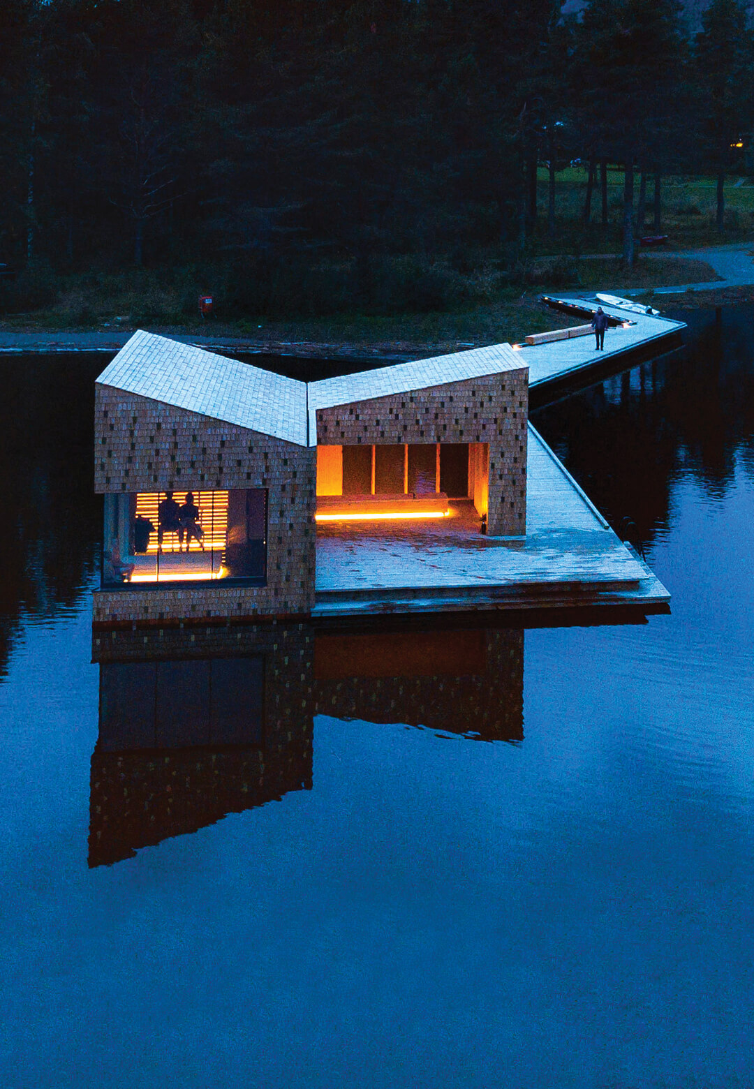 Soria Moria sauna by Lake Bandak in Telemark, featuring in DOGA at London Design Biennale 2021   London Design Biennale 2021  The Ripple Effect - Connecting People and Nature   STIRworld