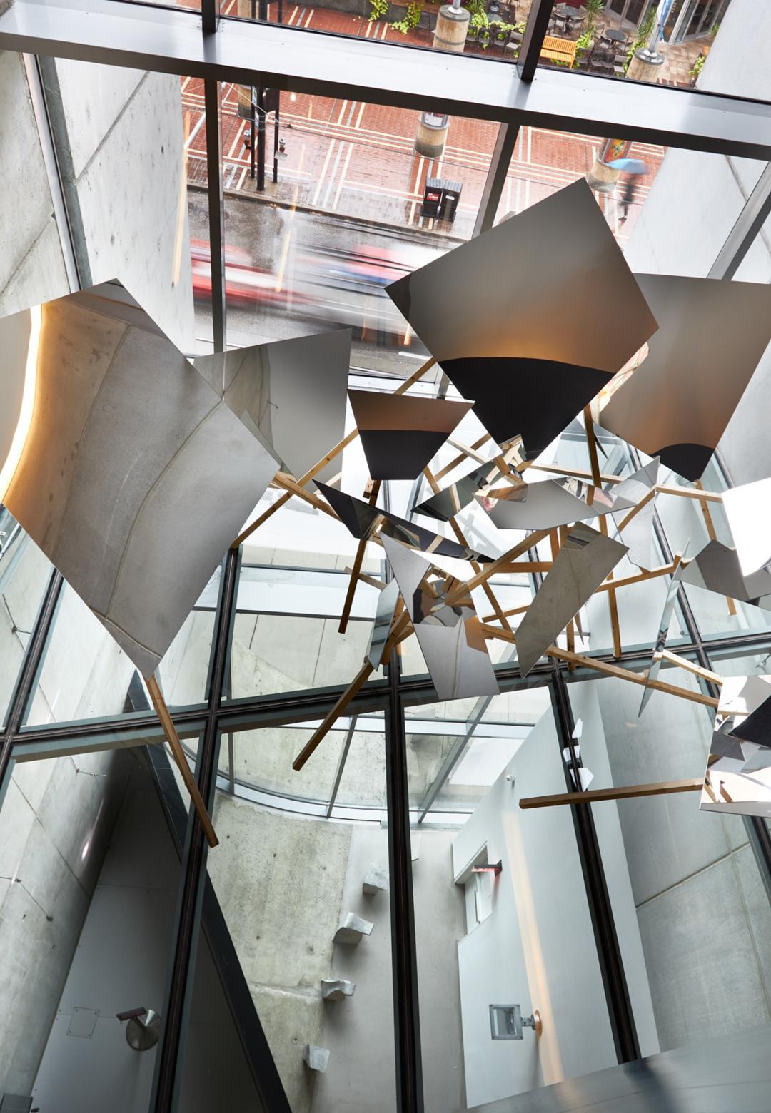 Lauren Henkin, Prop 6, 2019, located on floating glass skylight | Lauren Henkin | Props | STIRworld