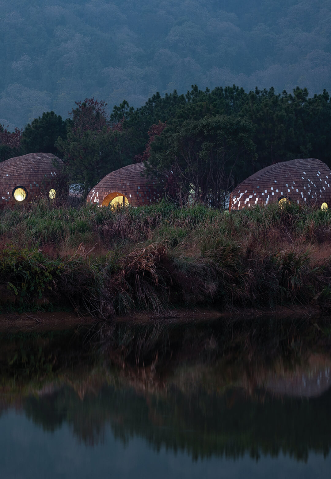 The Seeds by ZJJZ Atelier is a cluster of four ellipsoidal cabins nestled in a Chinese forest   The Seeds by ZJJZ   STIRworld