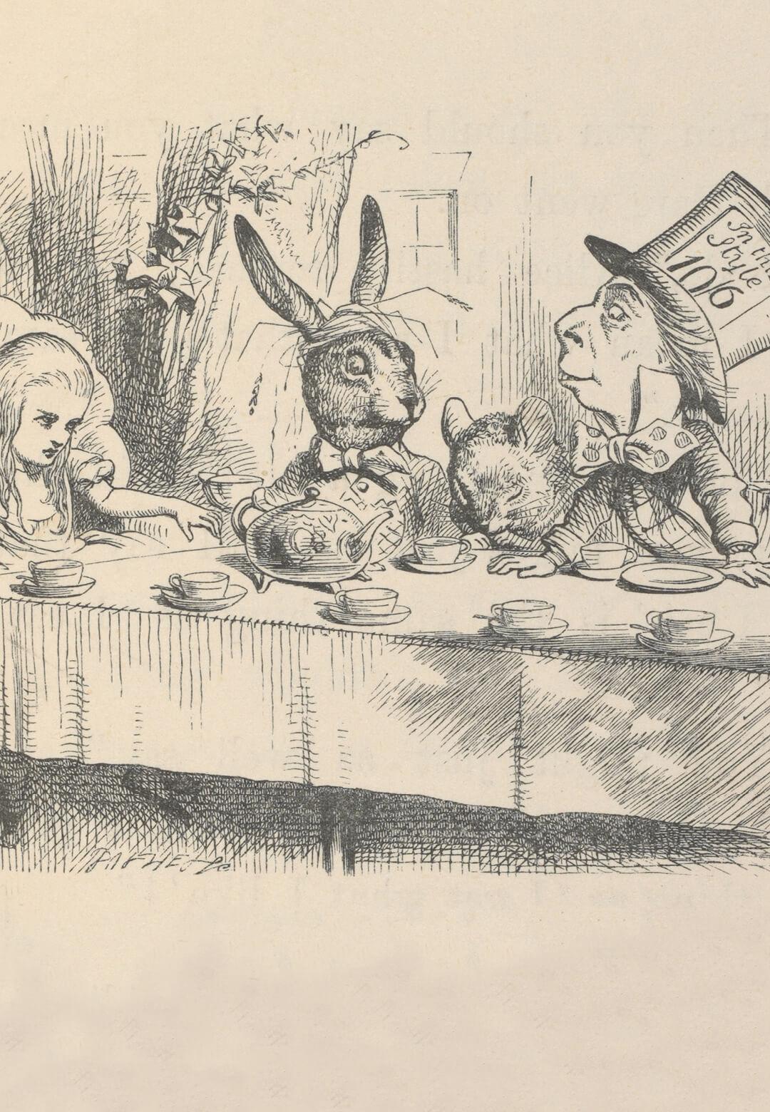 A preliminary sketch by John Tenniel in 1865   Alice: Curiouser and Curiouser   John Tenniel   STIRworld