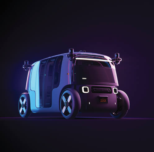 The Zoox robotaxi is a fully autonomous, electric vehicle built for the urban 'rider'