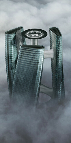 Towering Turbine: The Squall Tower in Dubai is designed to rotate with the wind
