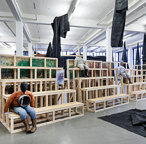 Turner Prize 2019 co-winner Oscar Murillo's solo show at Kunstverein in Hamburg