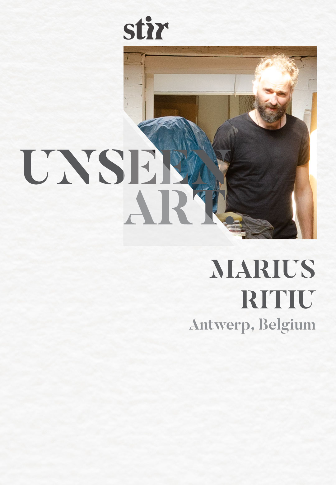 Artist Marius Ritiu in his studio | Unseen Art | STIRworld