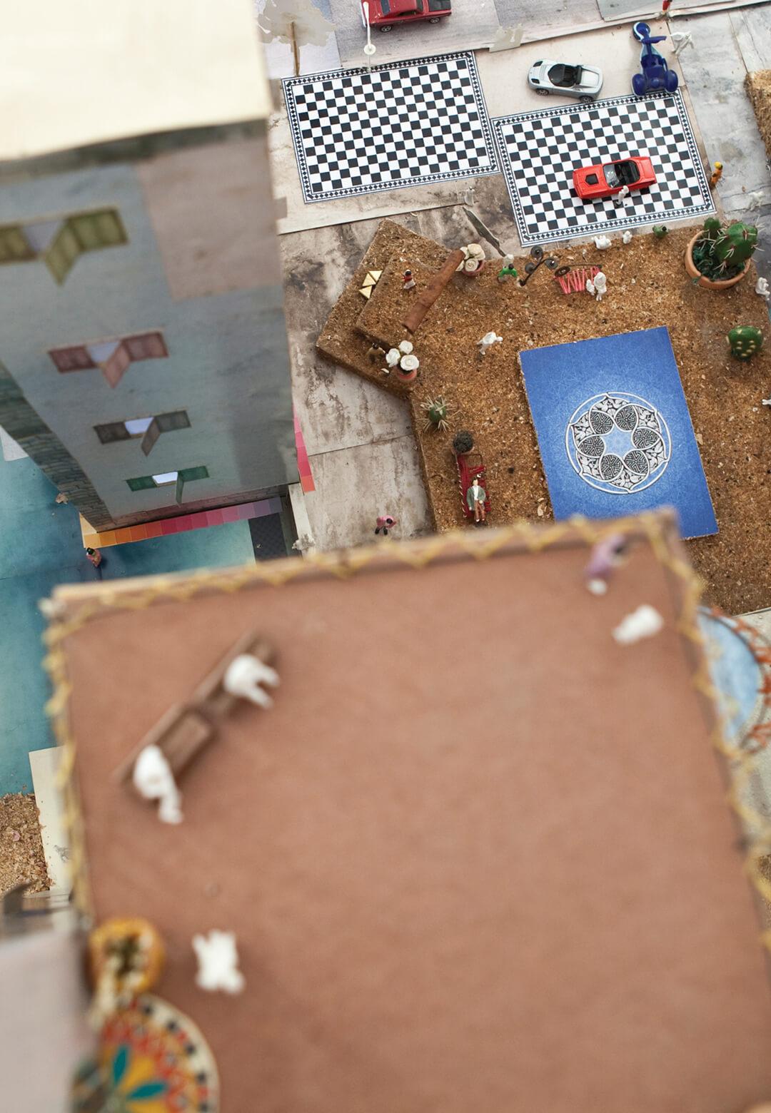 Bird's Eye view of the installation Qalandia | Wafa Hourani| STIRworld