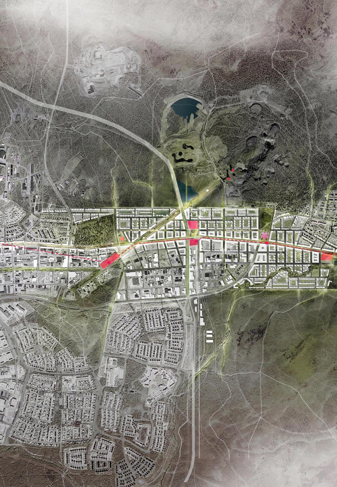The masterplan for Kiruna's relocation  | Kiruna Masterplan | White Arkitekter | STIRworld