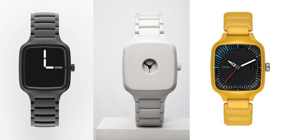 YOY, Formafantasma, Tej Chauhan, Thukral & Tagra design RADO True Square watches