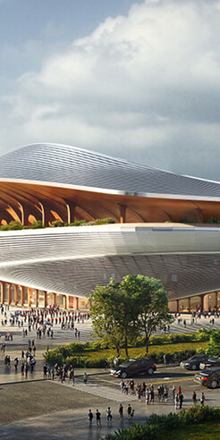 Zaha Hadid Architects design 60,000-seat Xi'an International Football stadium