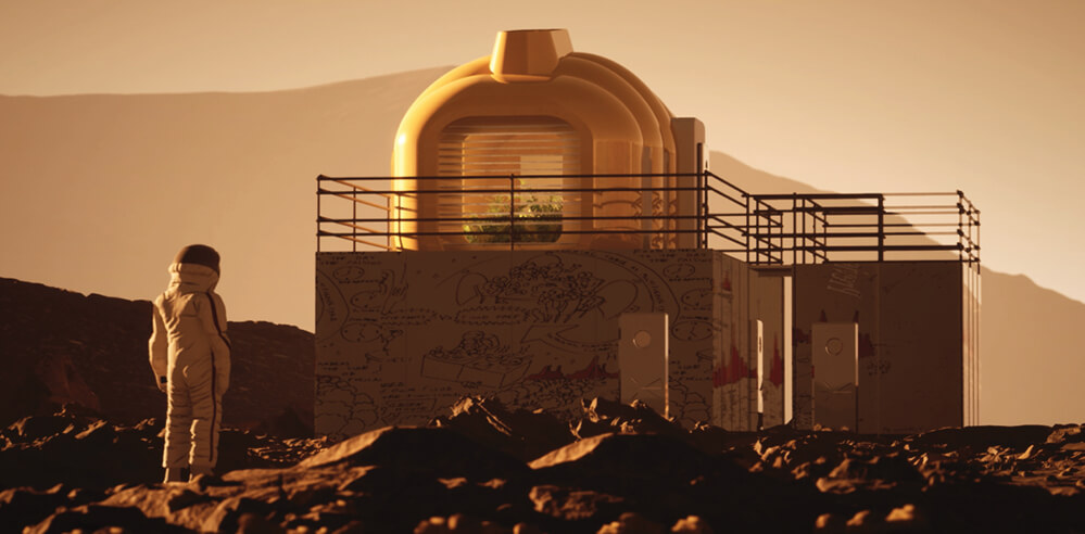 A full-scale house for future life on Mars is in the making in Bristol