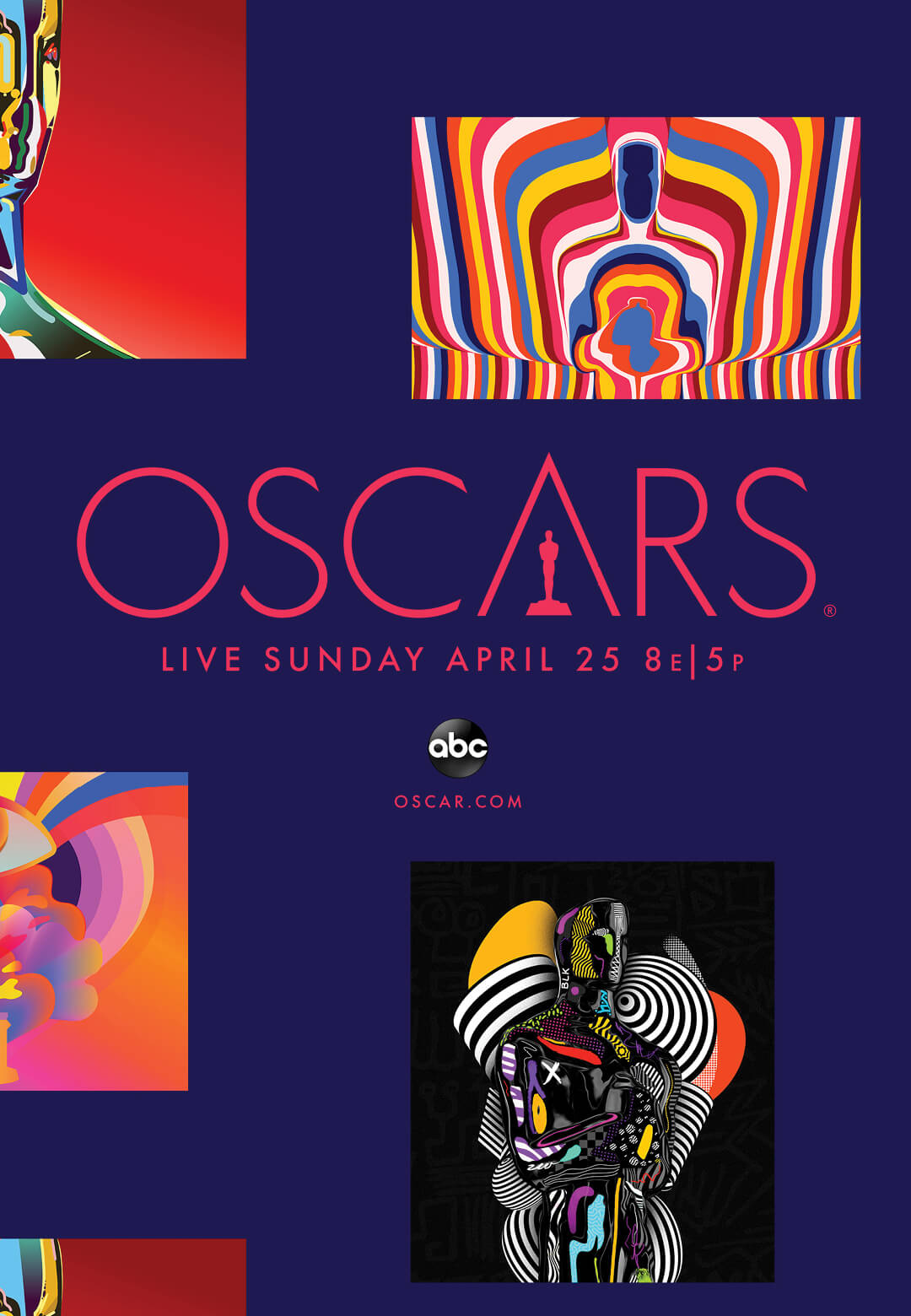 Poster for the 93rd Academy Awards featuring the seven artists' work |The 93rd Academy Awards | STIRworld