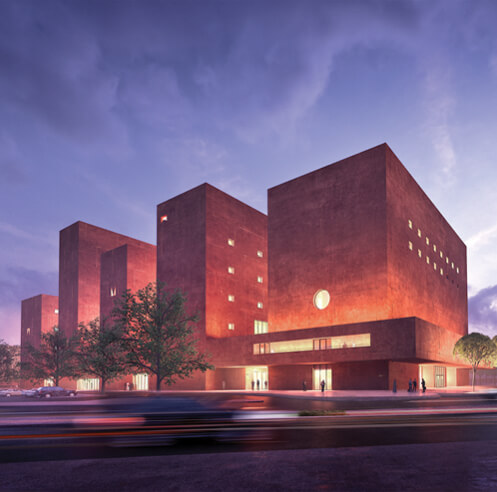 Adjaye Associates unveils a tiered citadel concept for The Africa Institute in Sharjah