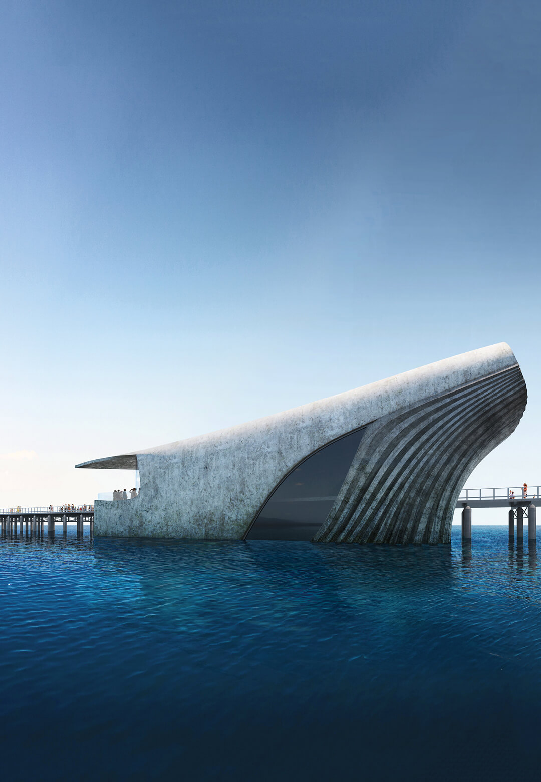 Baca Architects will build the whale shaped Australian Underwater Discovery Centre | Australian Underwater Discovery Centre by Baca Architects | STIRworld
