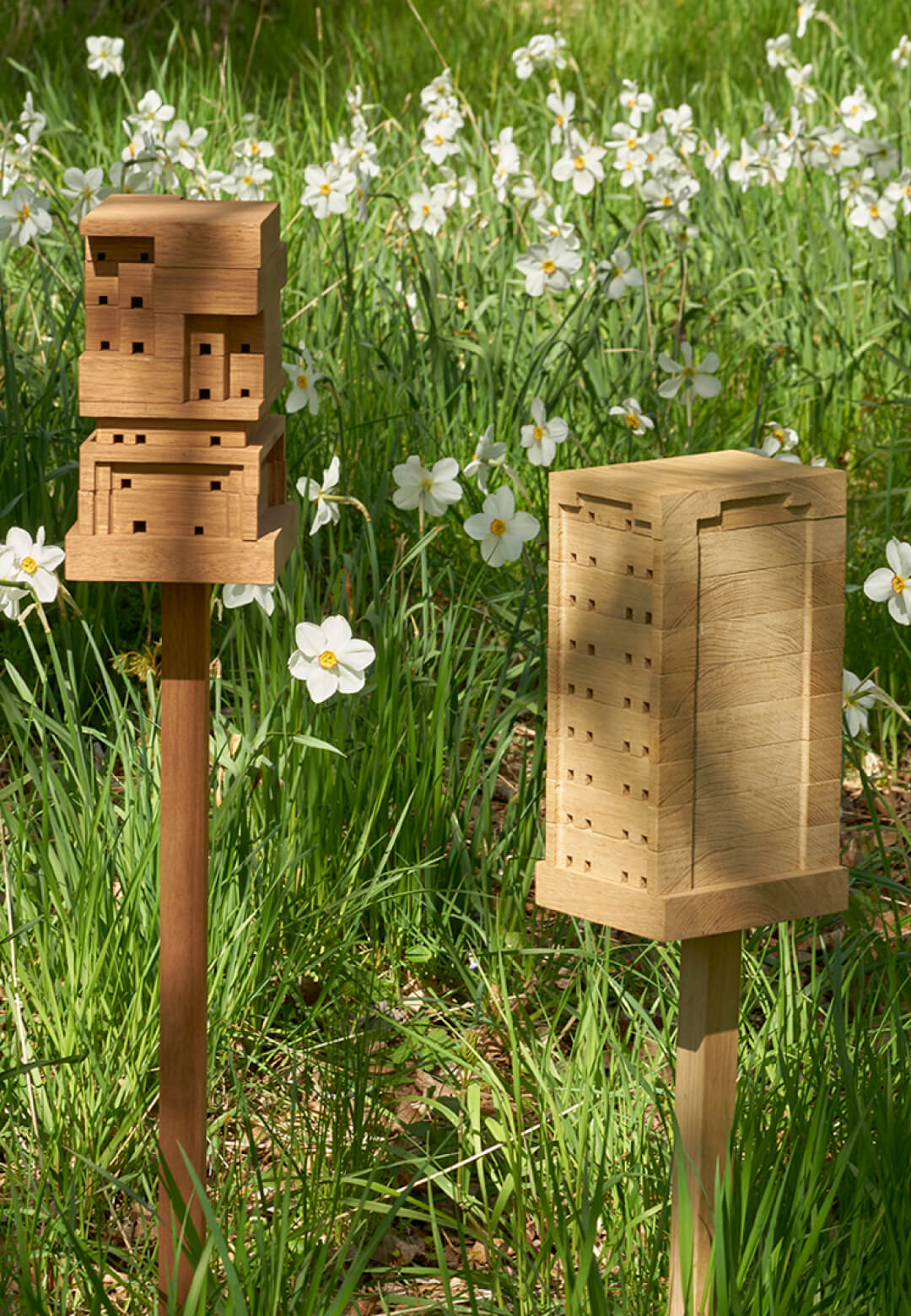 'Bee Home' placed in a garden | SPACE10 | STIRworld