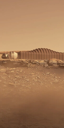 BIG and ICON unveil Mars Dune Alpha - a 3D-printed habitat for the red planet