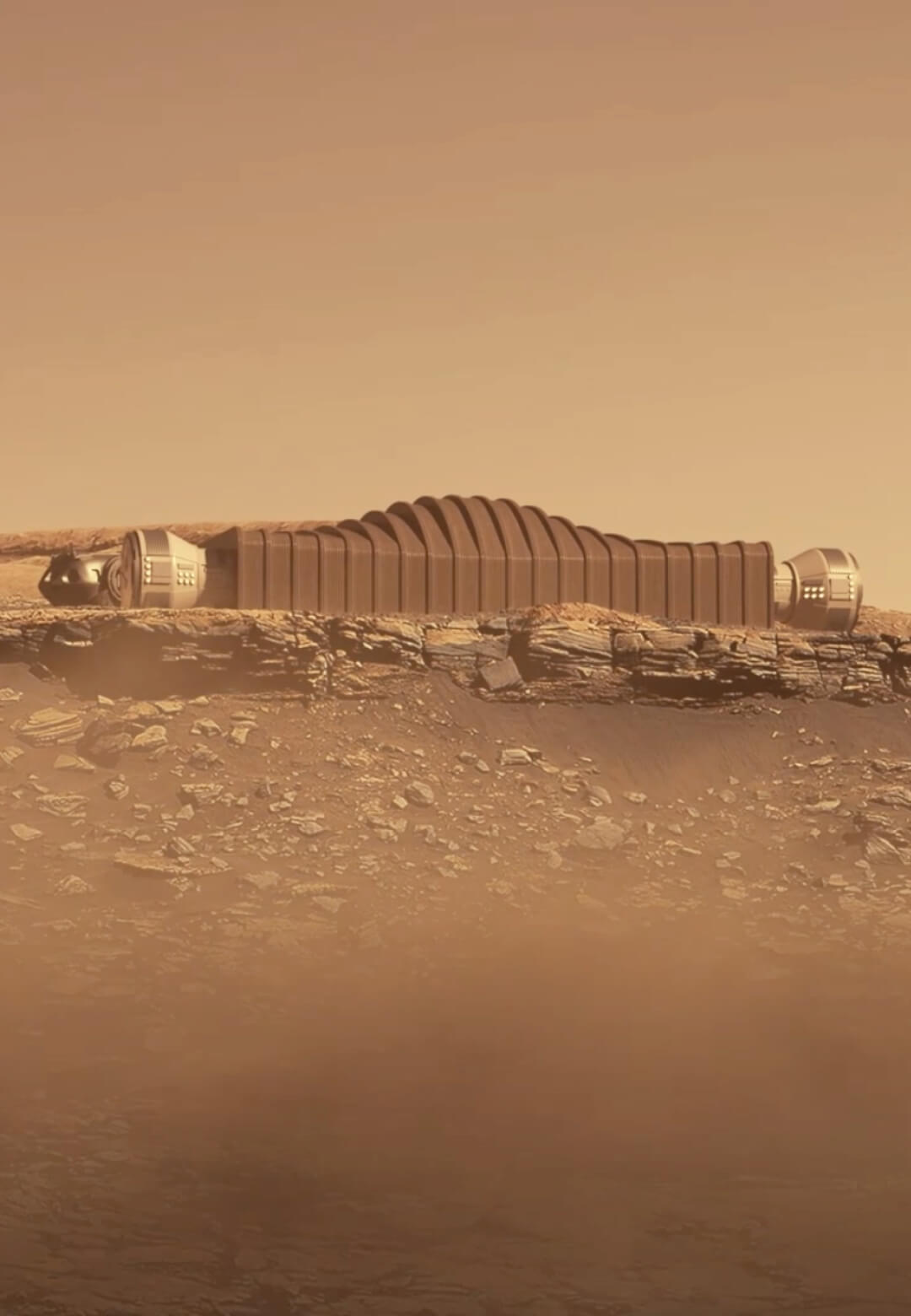Bjarke Ingels Group and ICON have collaborated on 3D-printed Martian habitats for NASA's CHAPEA research program   Mars Dune Alpha by Bjarke Ingels Group and ICON   STIRworld