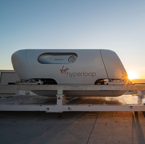 BIG-designed Virgin Hyperloop pod 'Pegasus' completes first manned test run
