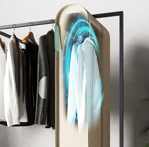 Carlo Ratti's portable wardrobe purifier Pura-Case uses ozone to sanitise clothes