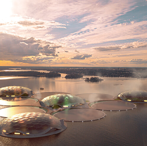 Carlo Ratti Associati's 'Hot Heart' is an archipelago of heat-storing floating islands