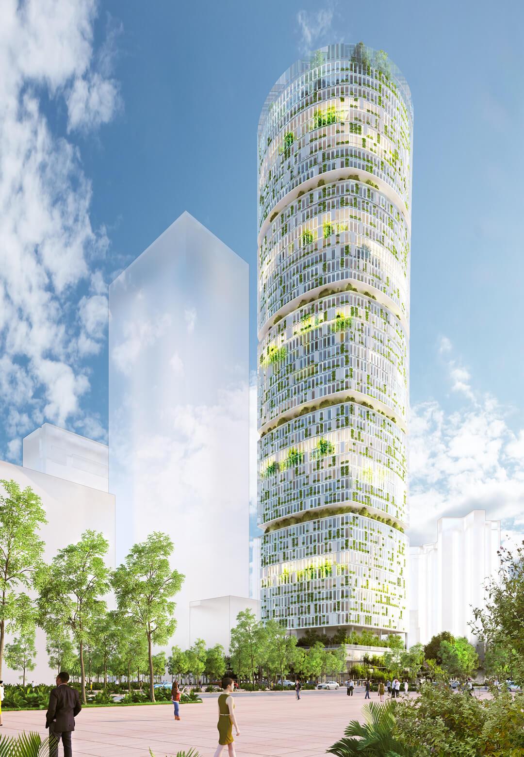 Carlo Ratti Associati has designed a 218m vertical hydroponic farm tower for Shenzhen, China| Jian Mu Tower by Carlo Ratti Associati | STIRworld