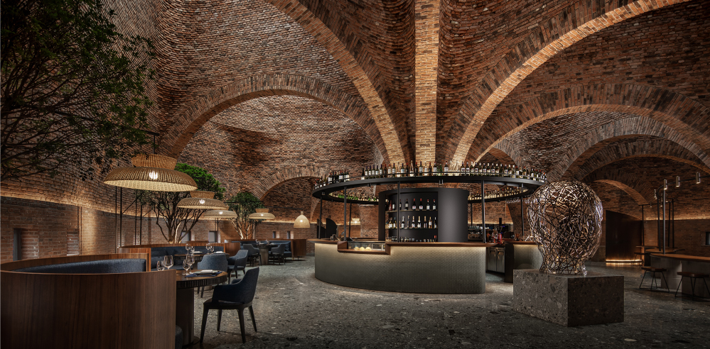 CCD plays with brick, light and arches inside 50% Cloud Artists Lounge restaurant