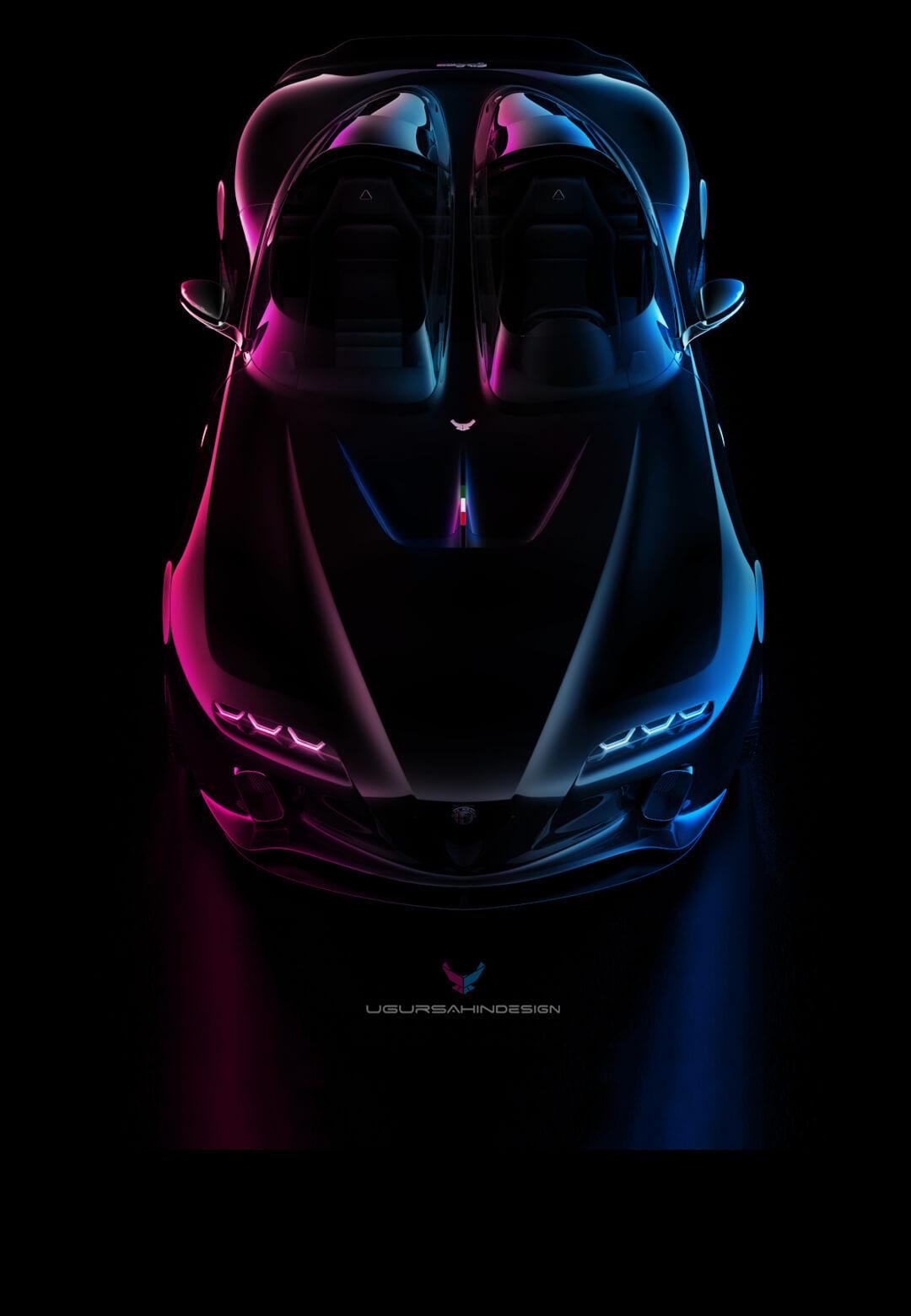 The Alfa Romeo USD Barchetta concept car by Ugur Sahin Design | Alfa Romeo car concept by Ugur Sahin Design | STIRworld