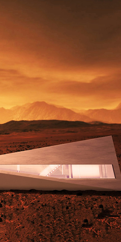 Cybunker, a concept design house by LARS BÜRO for Tesla's Cybertruck
