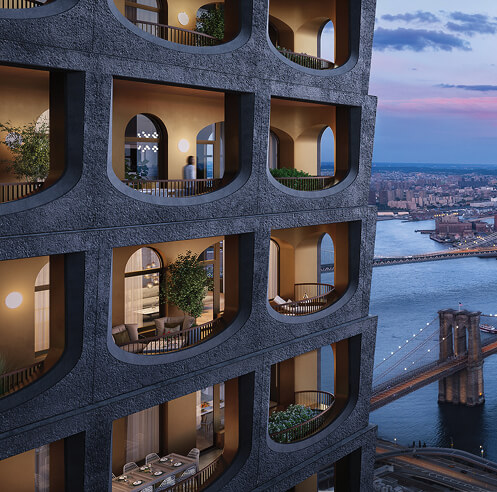 David Adjaye and Aston Martin design luxe homes in New York's 130 William
