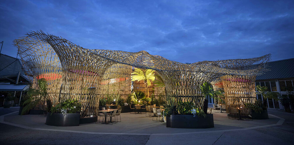 Déambulons build Europe's largest bamboo structure for Terra Botanica theme park