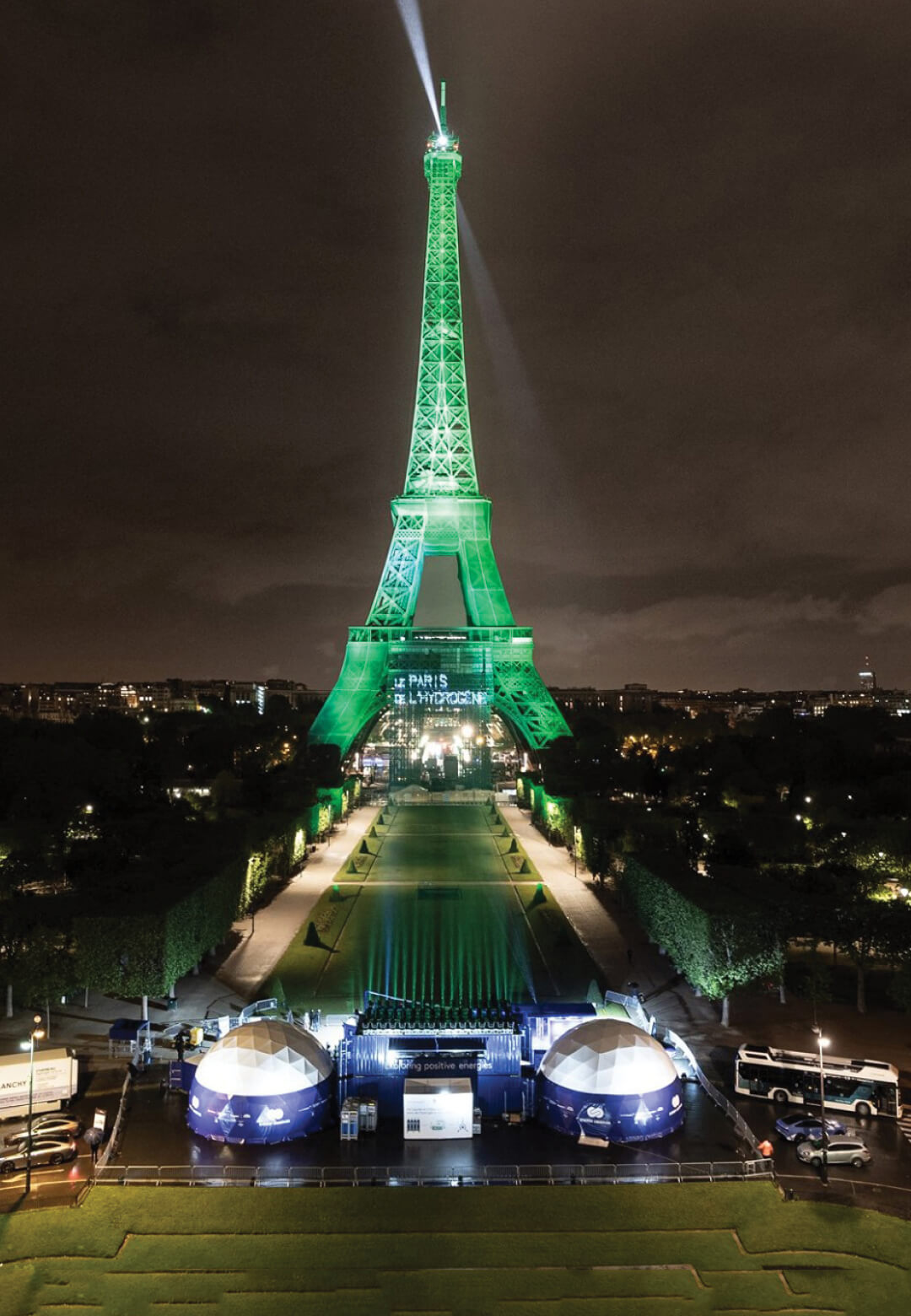 EODev lights up the Eiffel Tower in a light show powered by their emissions-free electro-hydrogen generator | EODev Lights up Eiffel Tower | STIRworld