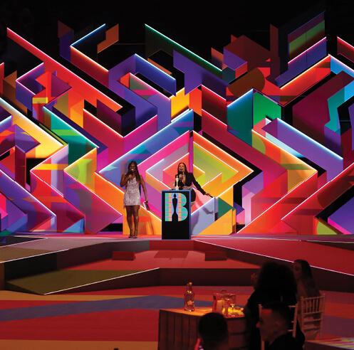 Es Devlin and Yinka Ilori design a vibrant labyrinthine set for 2021 BRIT Awards