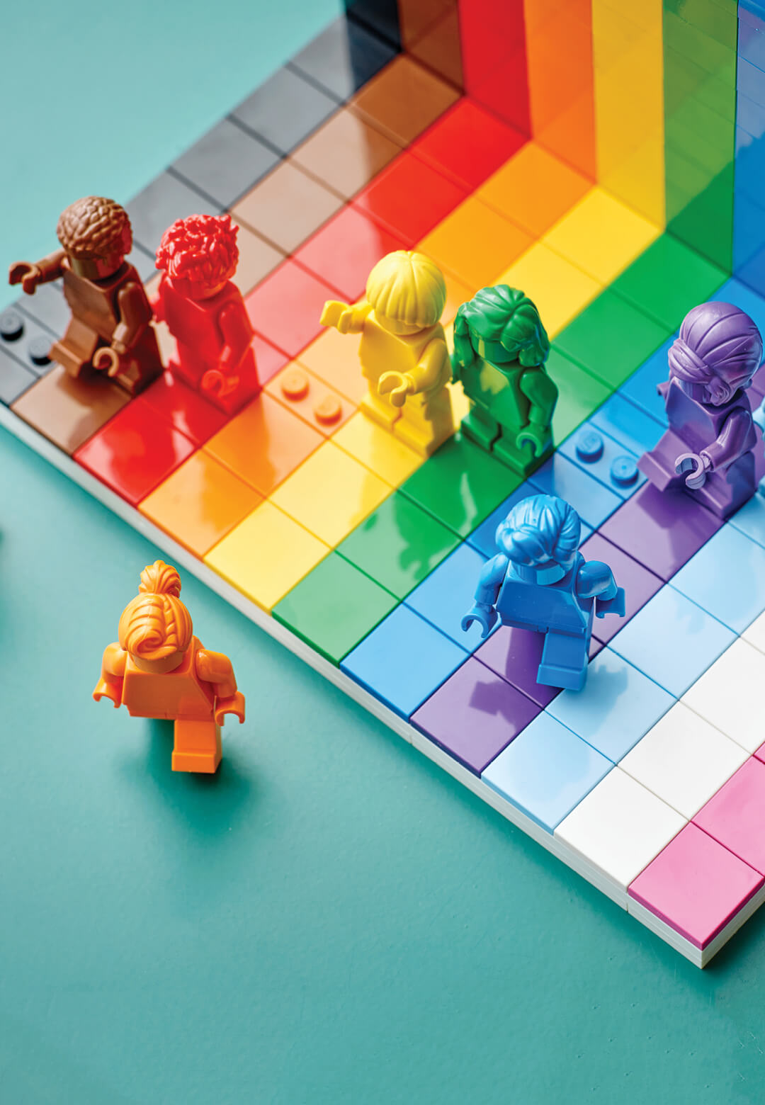 LEGO has unveiled a new multicoloured display set celebrating the LGBTQIA+ community, to promote inclusivity among its fans worldwide   LEGO 'Everyone is Awesome' set   STIRworld