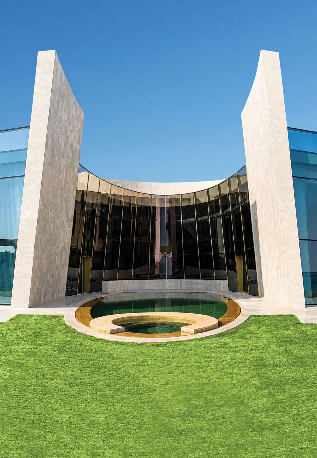 The sea facing side of the Al Gurm Villa designed by Italian architect and designer Fabio Novembre | Al Gurm Villa designed by Fabio Novembre | STIRworld