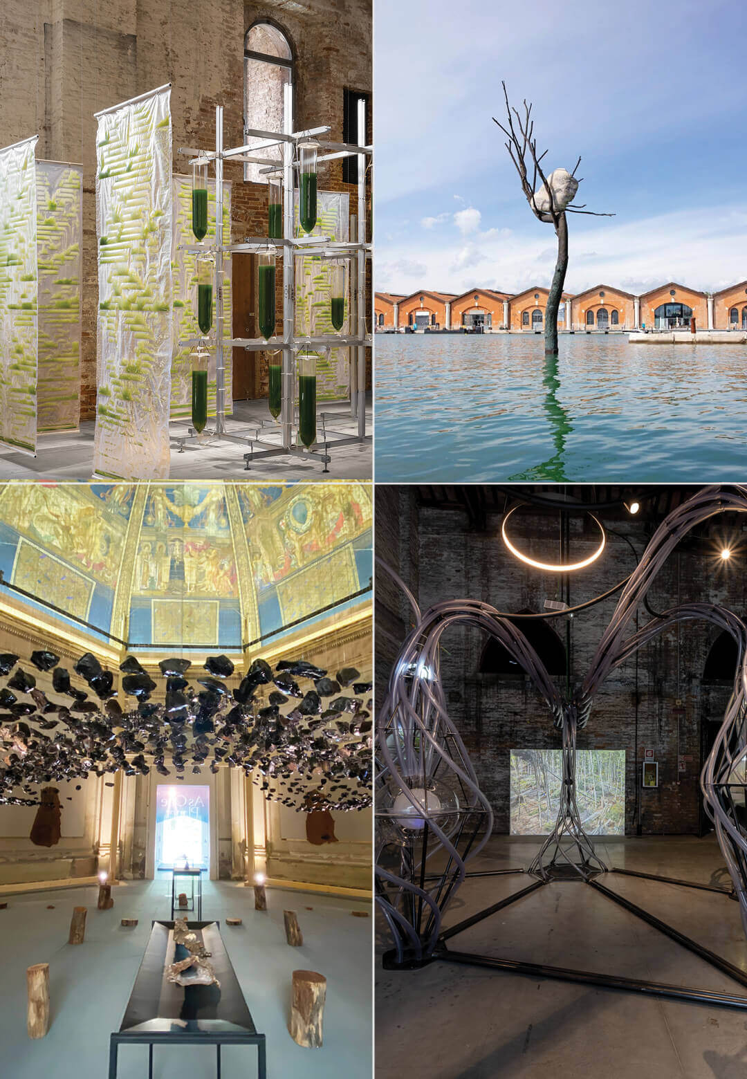 BIT.BIO.BOT by ecoLogicStudio, The Listener by Giuseppe Penone, Obsidian Rain by Cave_Bureau, the Italian Pavilion and Ego to Eco by EFFEKT at the Venice Architecture Biennale 2021| Green Roundup | Venice Architecture Biennale 2021 | STIRworld