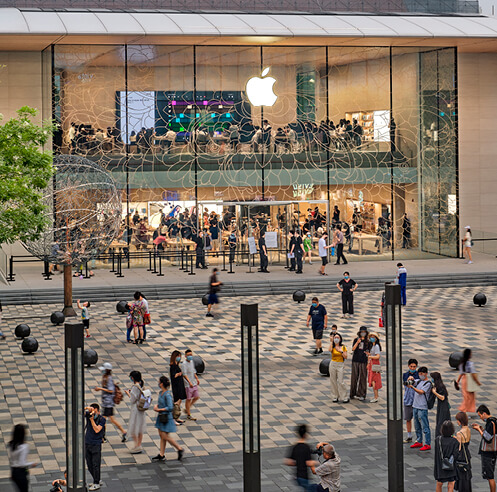 Foster + Partners design new earthquake proof Apple store in Beijing