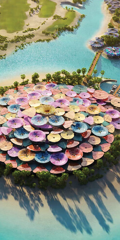 Foster + Partners' ambitious Coral Bloom Resort unfolds on a Saudi Arabian island