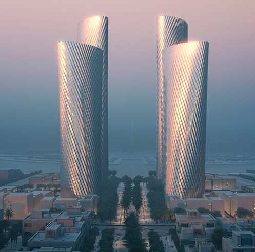 Foster + Partners reveals plans for high-rise Lusail Towers in Qatar