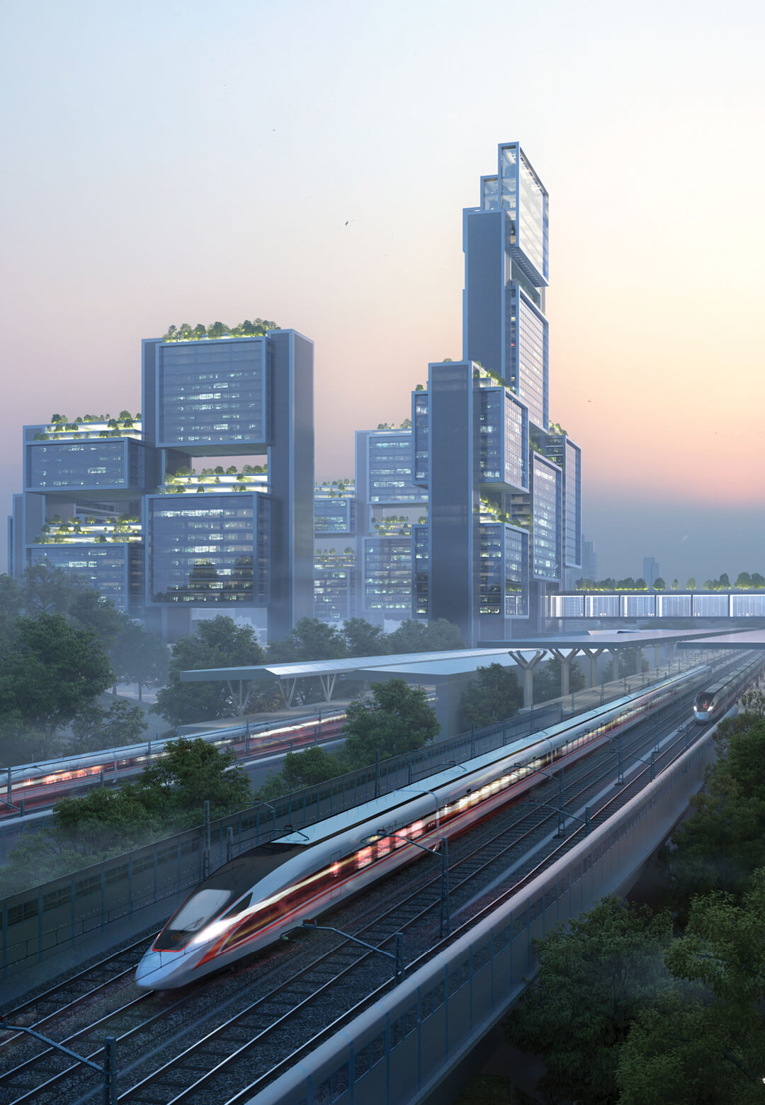 The Guangming Hub masterplan accommodates a robust infrastructure, effective transport networks and reliable public services | Guangming Hub Masterplan, Shenzen |Foster + Partners | STIRworld