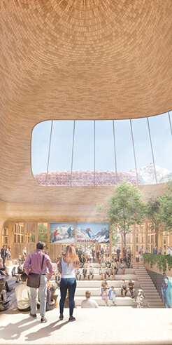 Foster+Partners unveil nature inspired innovation centre overlooking the Alps